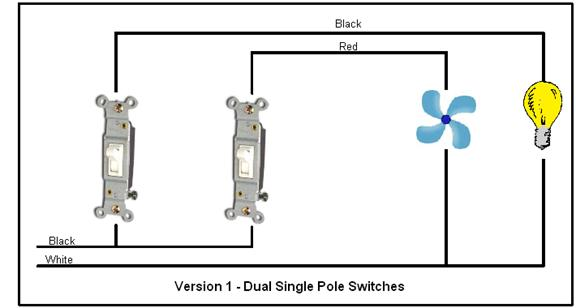 single pole double switch wiring diagram  single  free